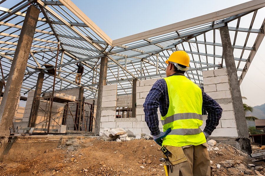 Engineer in the construction site