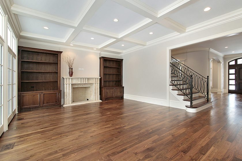 Family room with hardwood flooring in Melbourne